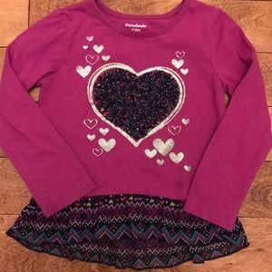 Long sleeve peplum shirt, 4T